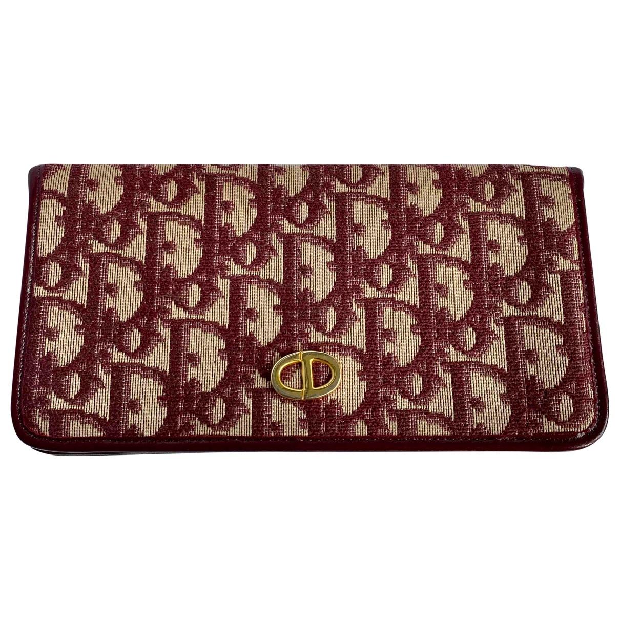 Dior \N Burgundy Cloth wallet for Women \N