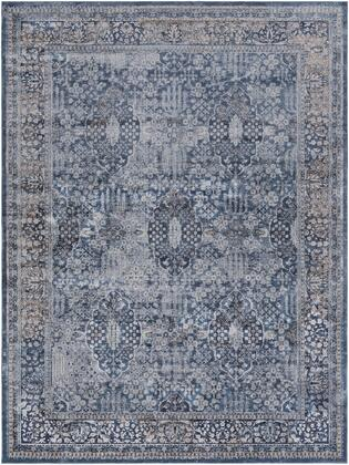 Durham DUR-1006 9 x 12 Rectangle Traditional Rug in Medium Gray  Charcoal  Ink  Khaki