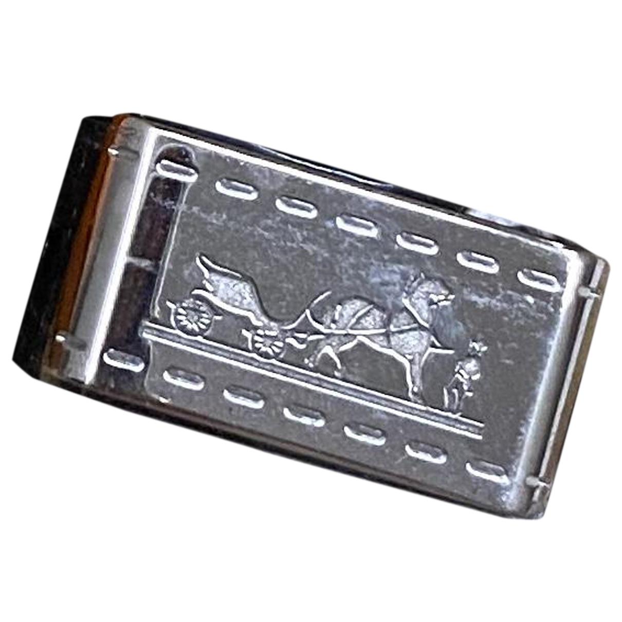 Hermes \N Ring in  Silber Stahl