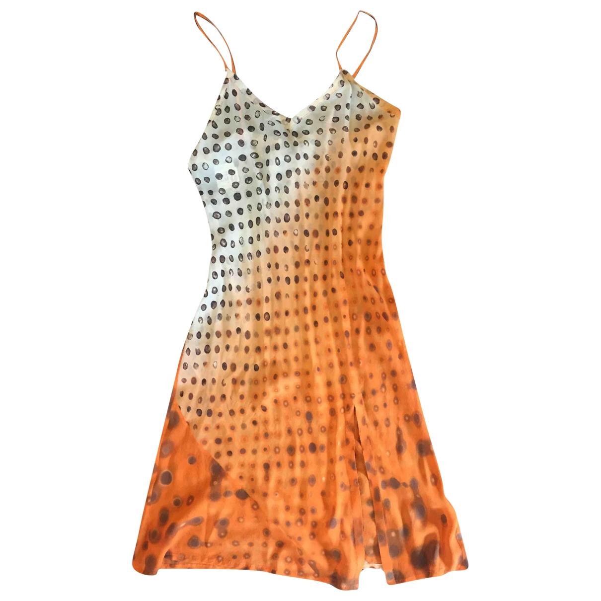 Jean Paul Gaultier \N Kleid in  Orange Seide