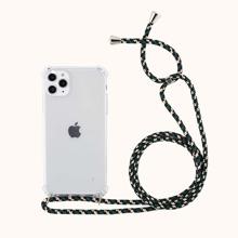 1 Stueck Transparente iPhone Huelle und 1 Stueck Tragegurt