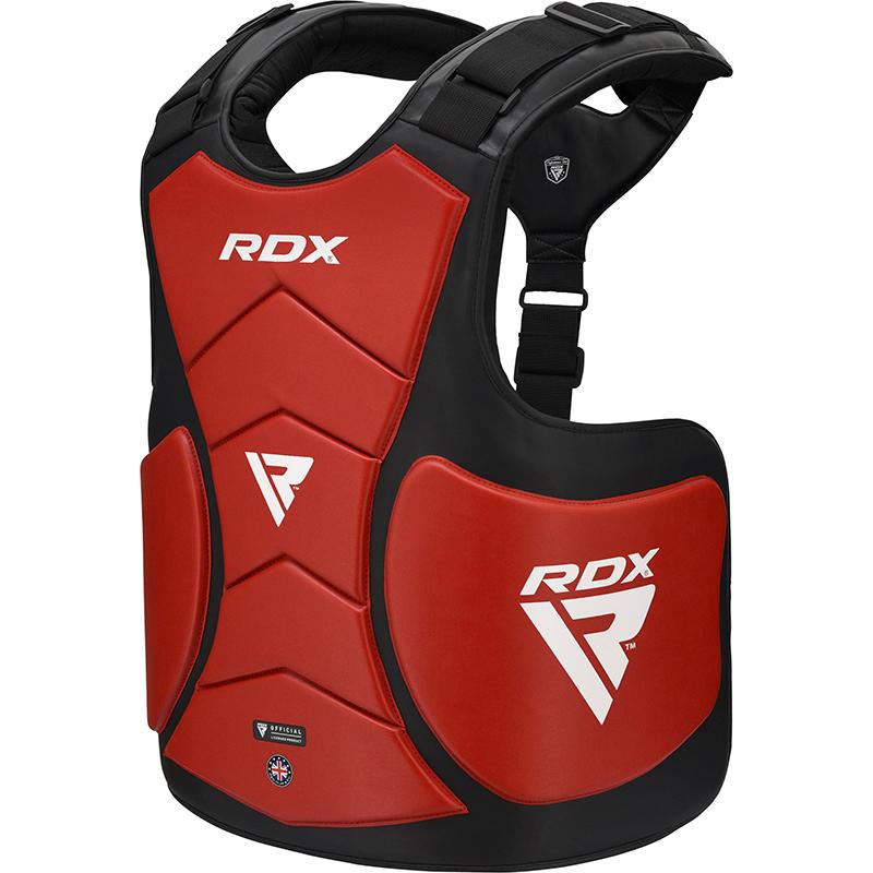 RDX T5 Protecteur De Corps De Coach Rouge Cuir PU