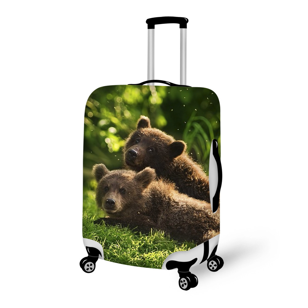 Fantastic Bear Pattern 3D Painted Luggage Cover