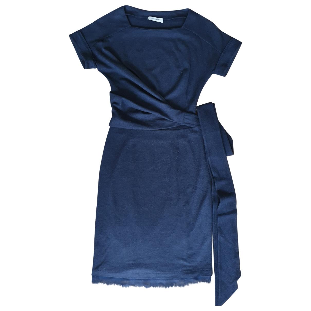 Costume National \N Kleid in  Marine Wolle