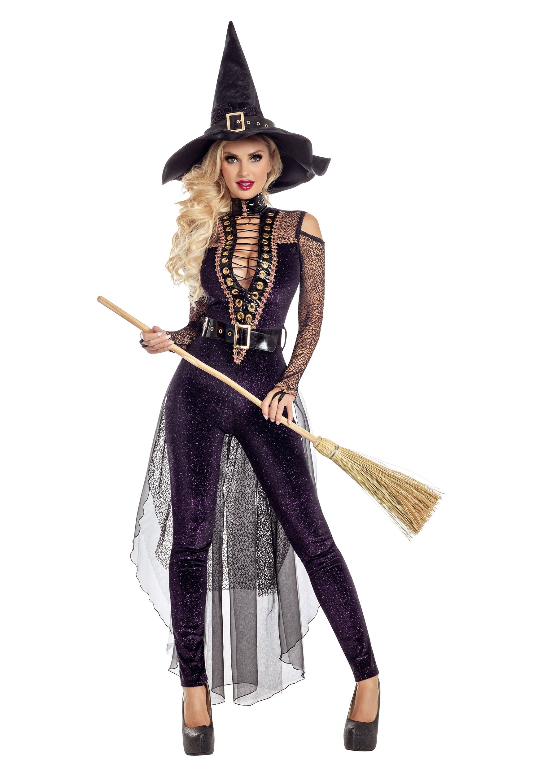 Midnight Violet Witch Women's  Costume