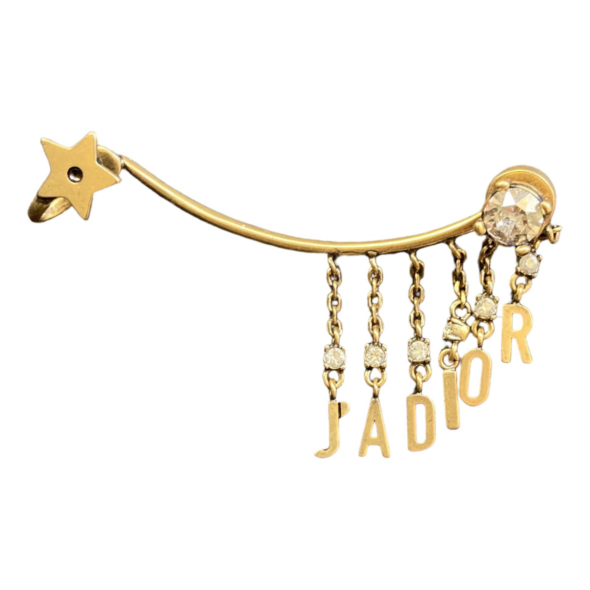 Dior J'adior Gold Metal Earrings for Women N