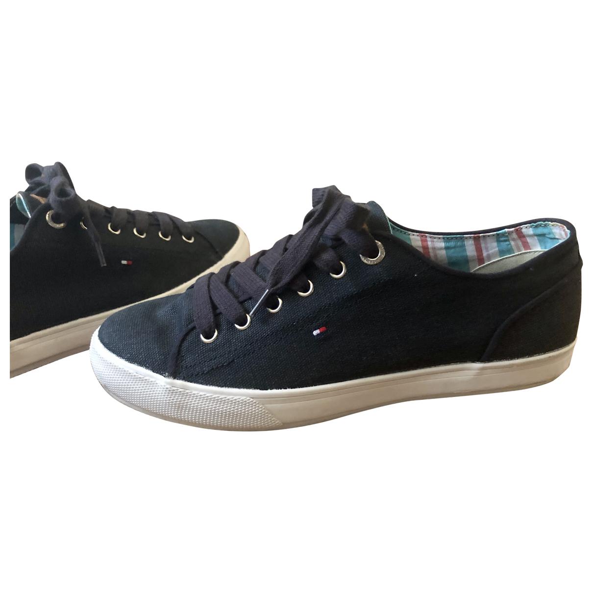 Tommy Hilfiger \N Sneakers in  Blau Leinen