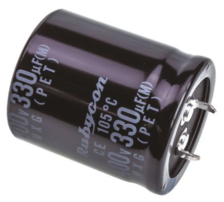 Rubycon 330μF Electrolytic Capacitor 400V dc, Through Hole - 400MXG330MEFCSN30X35