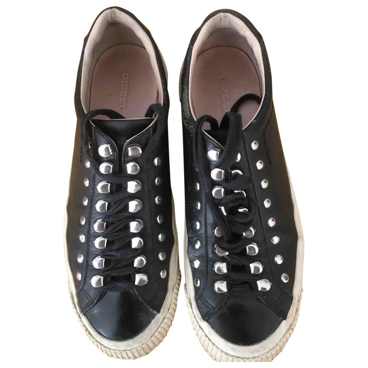 Diesel \N Sneakers in  Schwarz Leder