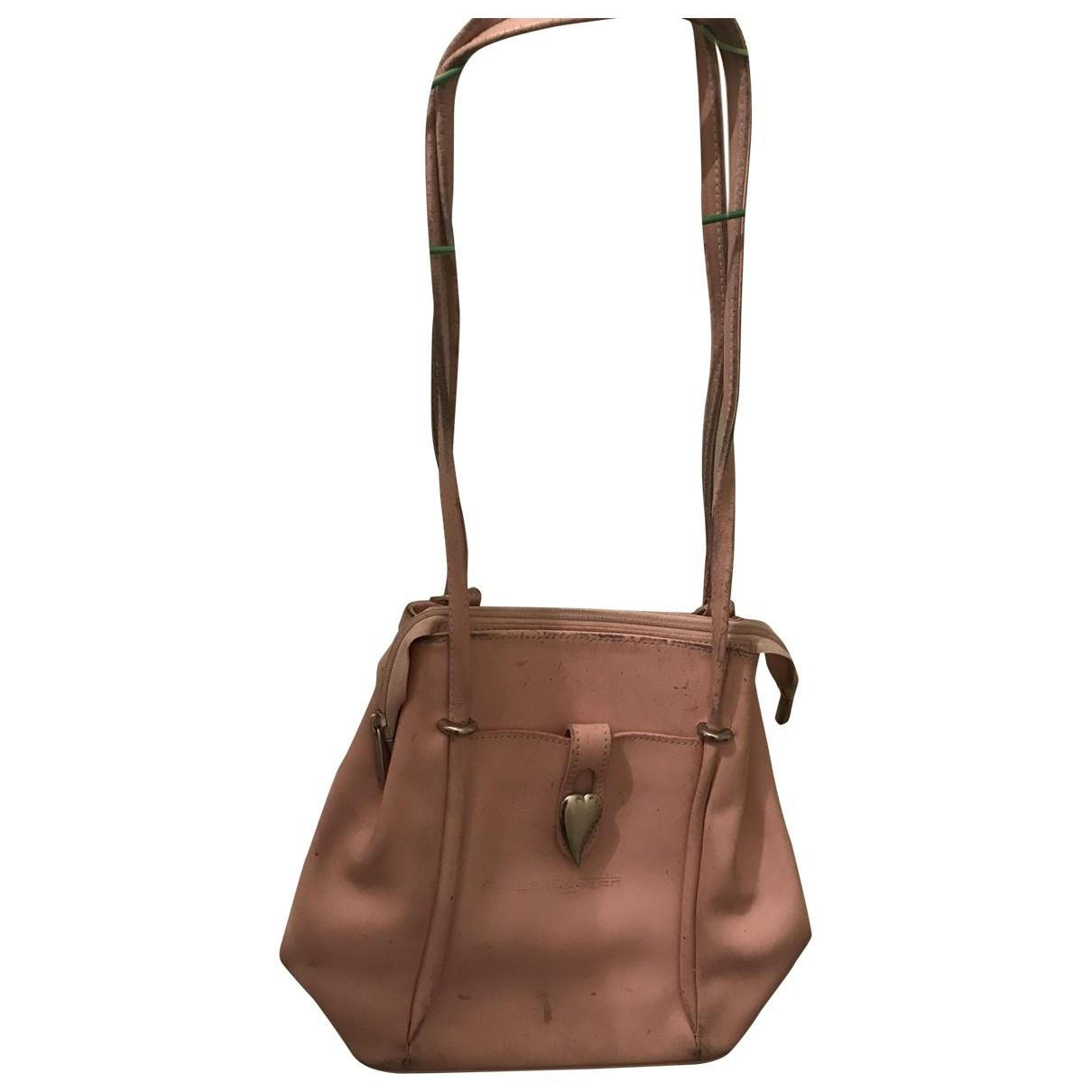 Lancaster - Sac a dos   pour femme en cuir - rose