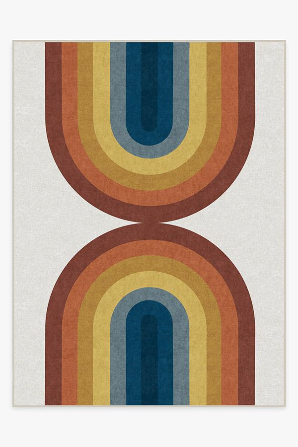 Washable Rug Cover & Pad | Absida Polychrome Rug | Stain-Resistant | Ruggable | 9x12
