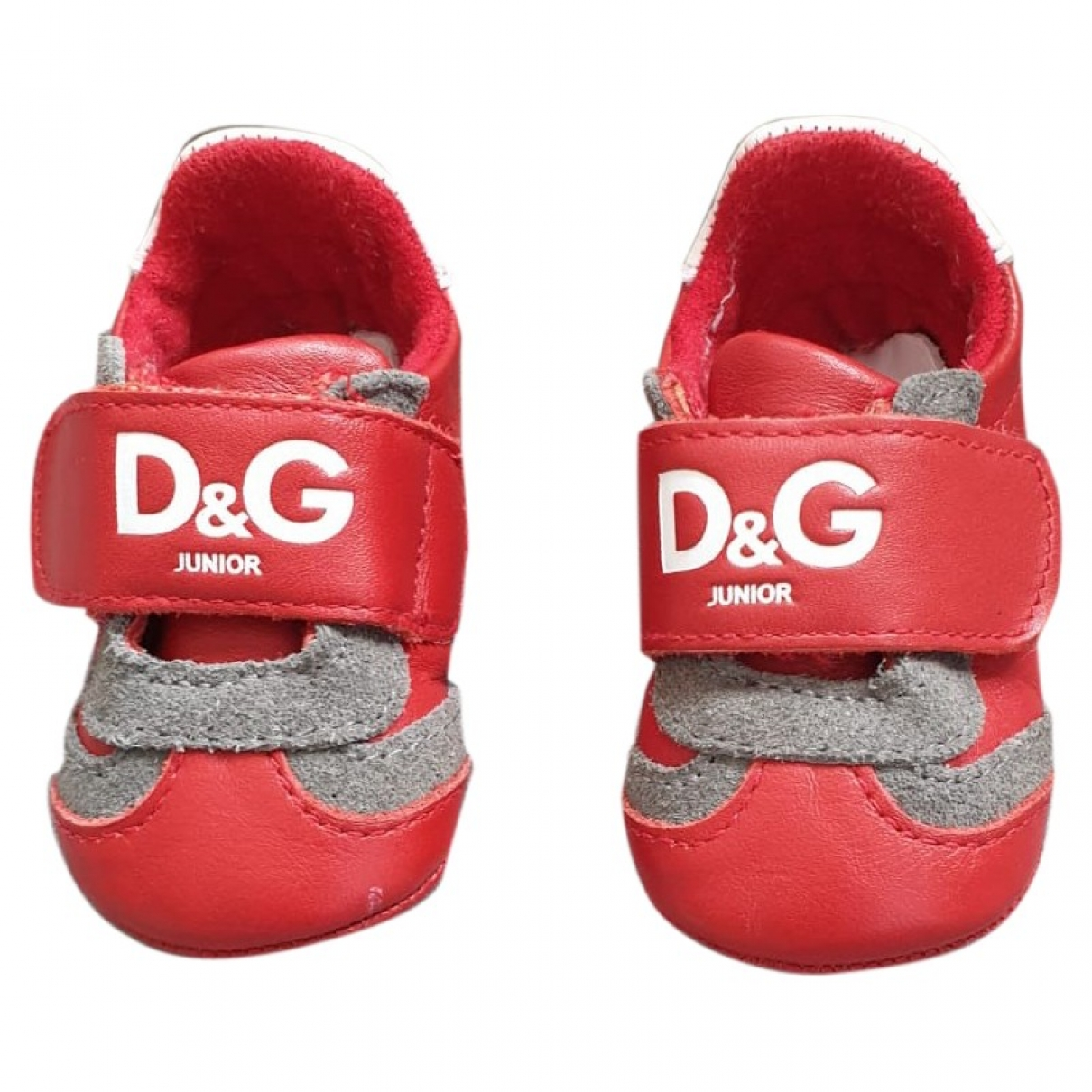 D&g \N Red Leather Slippers for Kids 17 EU
