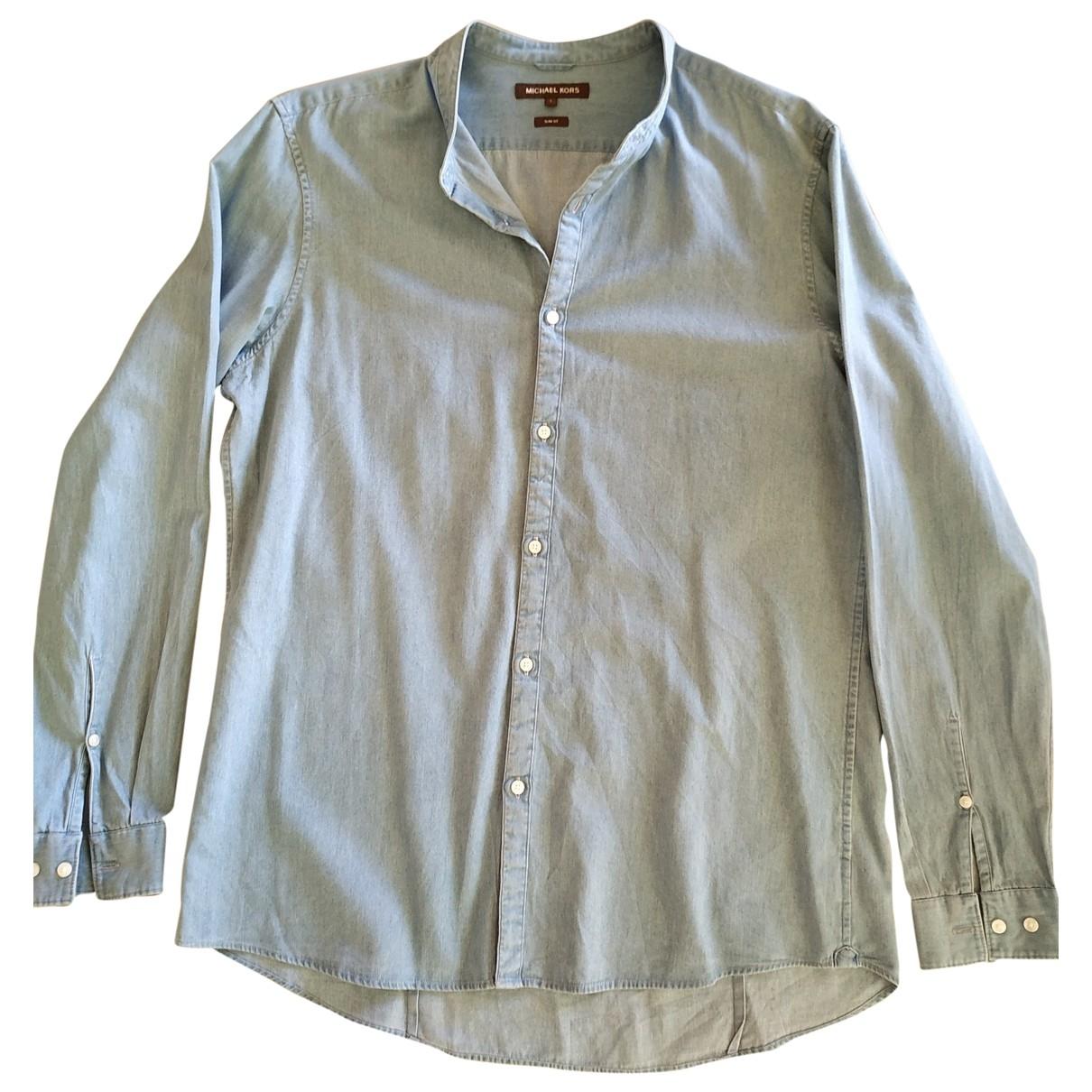 Michael Kors \N Blue Cotton Shirts for Men L International