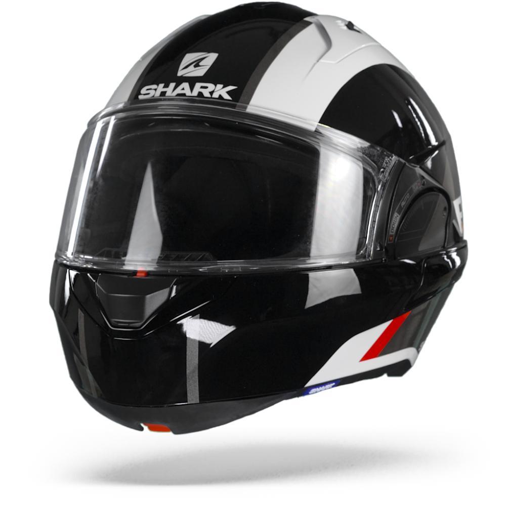 Shark Evo ES Endless Casco Modular Blanco Negro Rojo L