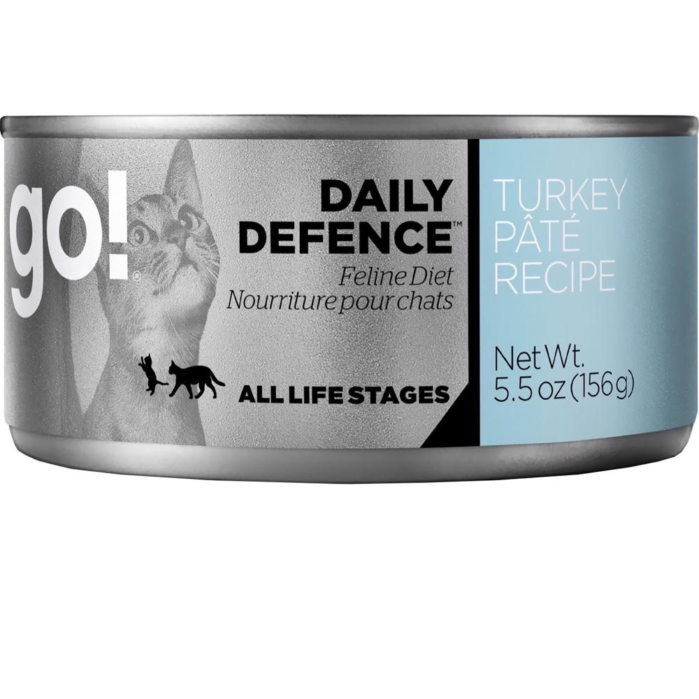 Petcurean Go! Daily Defence Cat Food - Turkey Pate (24x5.5oz)