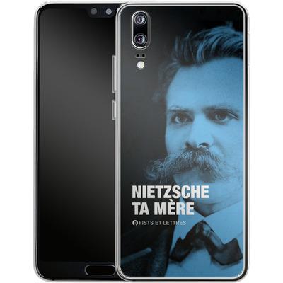 Huawei P20 Silikon Handyhuelle - Nietzsche Ta Mere von Fists Et Lettres