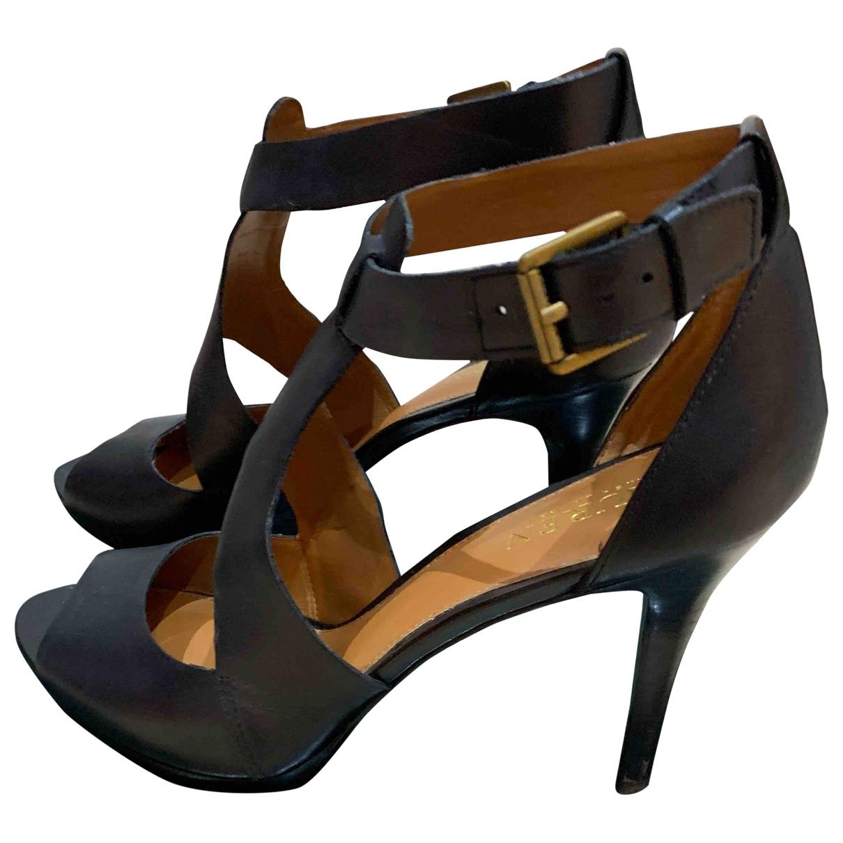 Lauren Ralph Lauren - Escarpins   pour femme en cuir - noir
