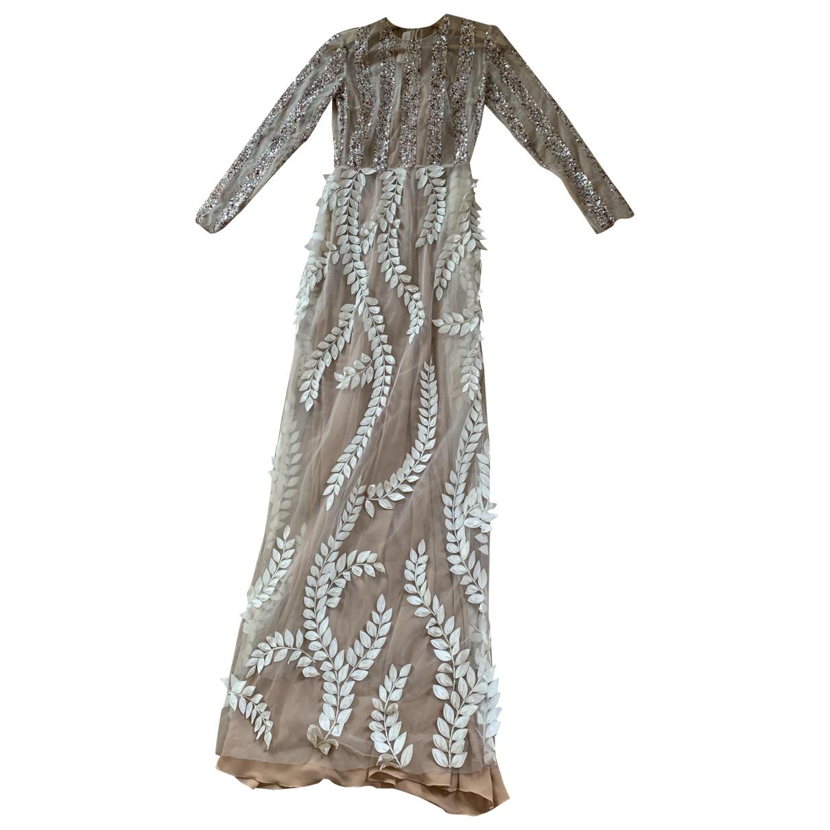 Sandra Mansour \N White Glitter dress for Women 34 FR