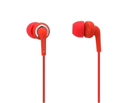 Songqu SQ-20MP In-ear Earphones With 3.5mm Stereo Bass 1.5m Cable - Red