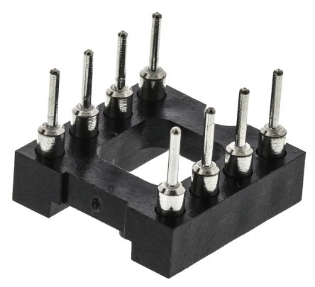 E-TEC 2.54mm Pitch Vertical 8 Way, Through Hole Turned Pin Open Frame IC Dip Socket (50)