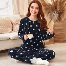 Pajama Set mit Stern Muster