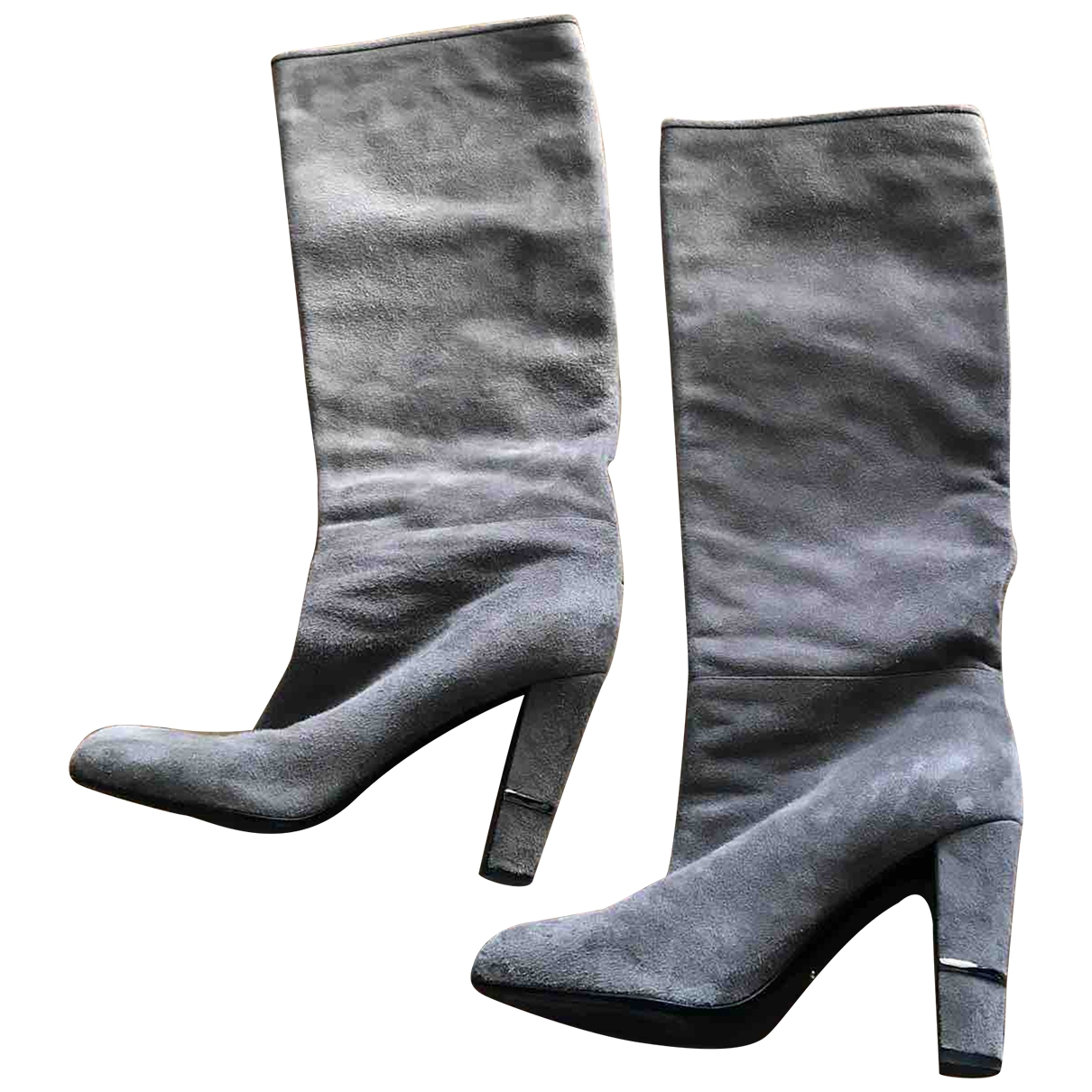Sergio Rossi \N Grey Suede Boots for Women 37 EU
