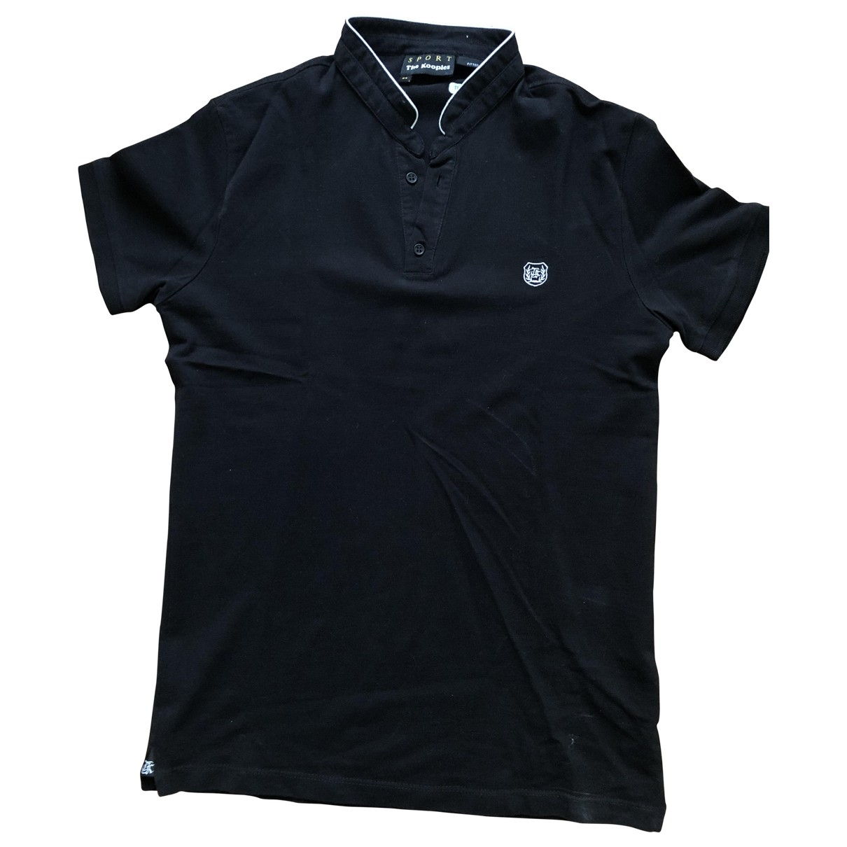 The Kooples - Polos   pour homme en coton - noir