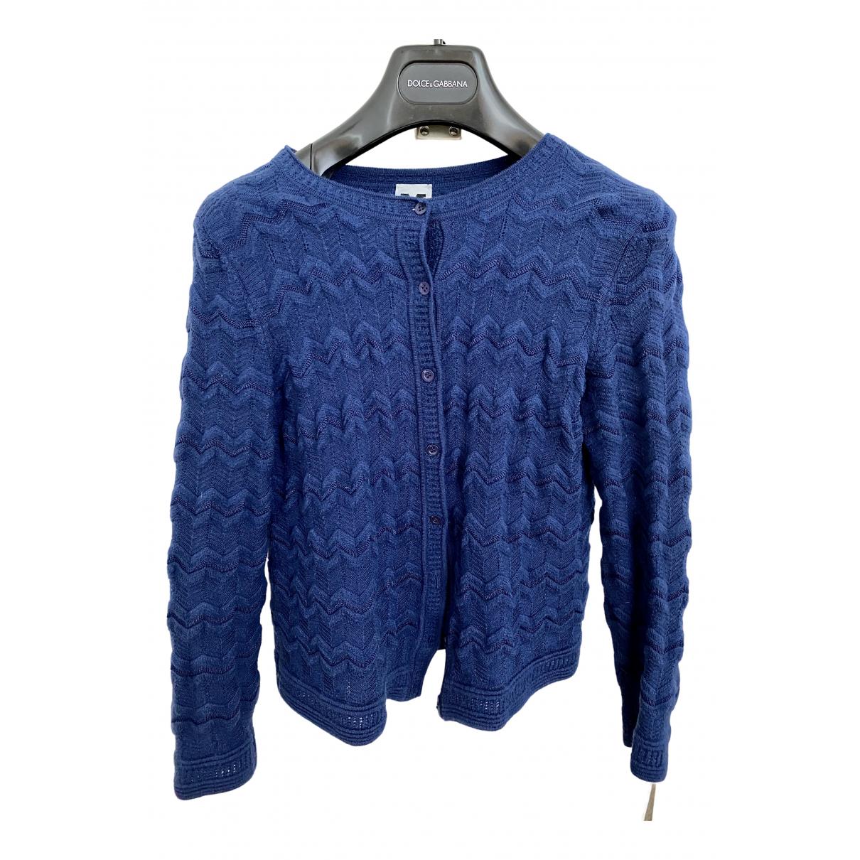 M Missoni - Pull   pour femme en laine - marine