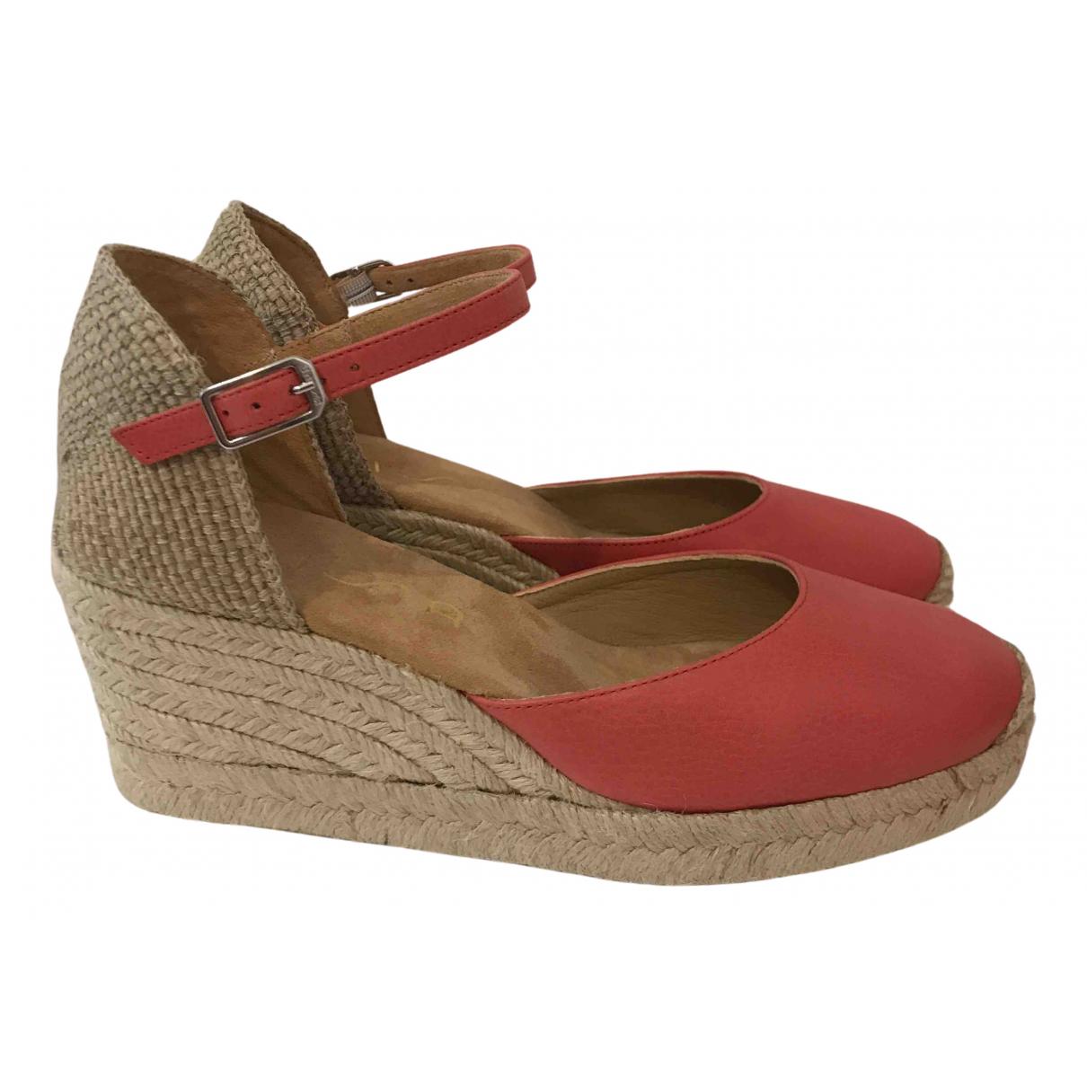 Unisa - Espadrilles   pour femme en cuir - rouge