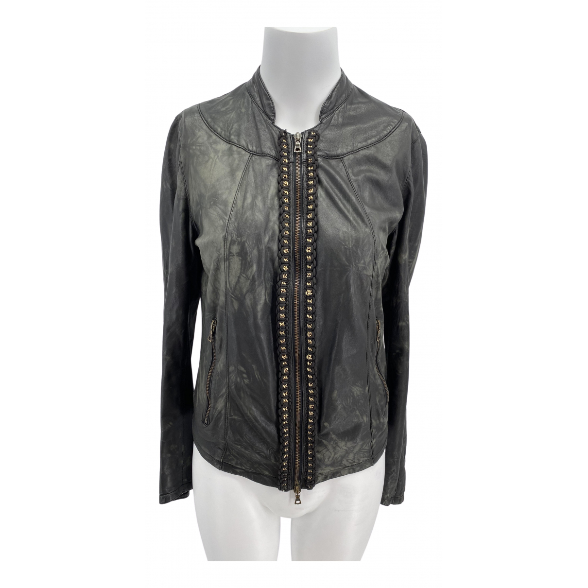 Drome \N Black Leather jacket for Women S International
