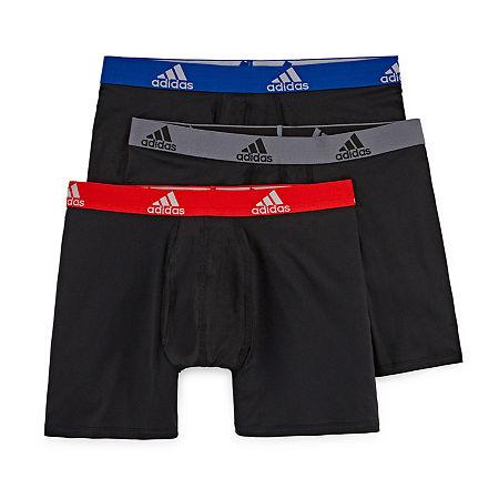 adidas 3-pk. Climalite Boxer Briefs, Small , Black