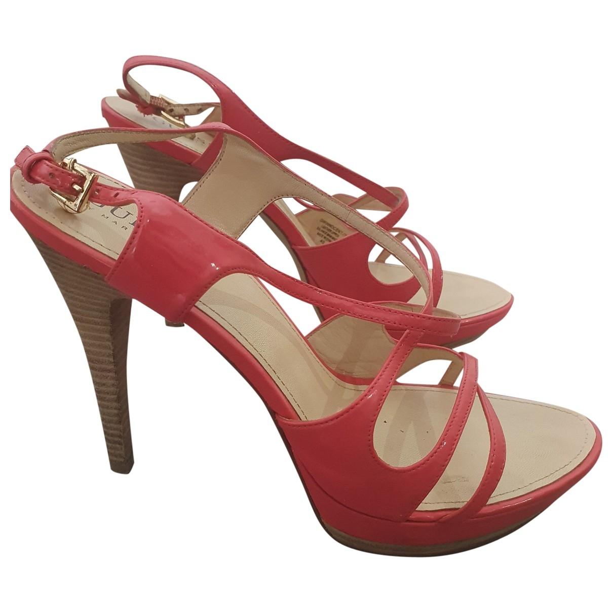 Guess - Sandales   pour femme en cuir - rose
