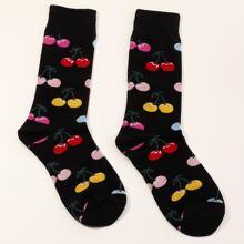 Maenner Kirsche Muster Socken