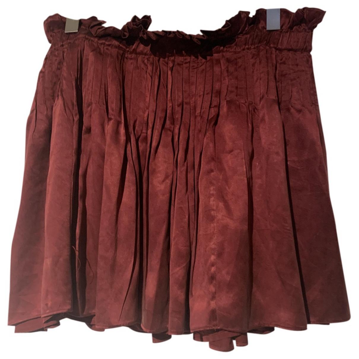 Isabel Marant Etoile N Burgundy Silk skirt for Women 42 FR