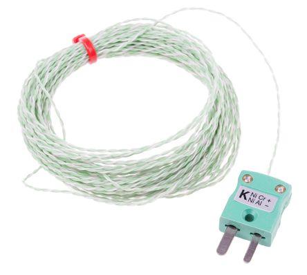 RS PRO Type K Thermocouple 10m Length, → +250°C