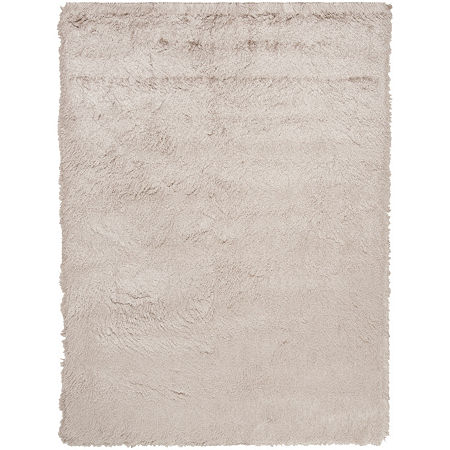 Safavieh Shag Collection Camille Solid Area Rug, One Size , Beige