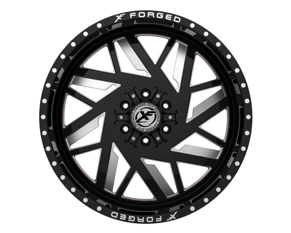 XF Off-Road XFX-306 Wheel 26x14 5x127|5x139.7 -76mm Gloss Black Milled w/ Red Inner