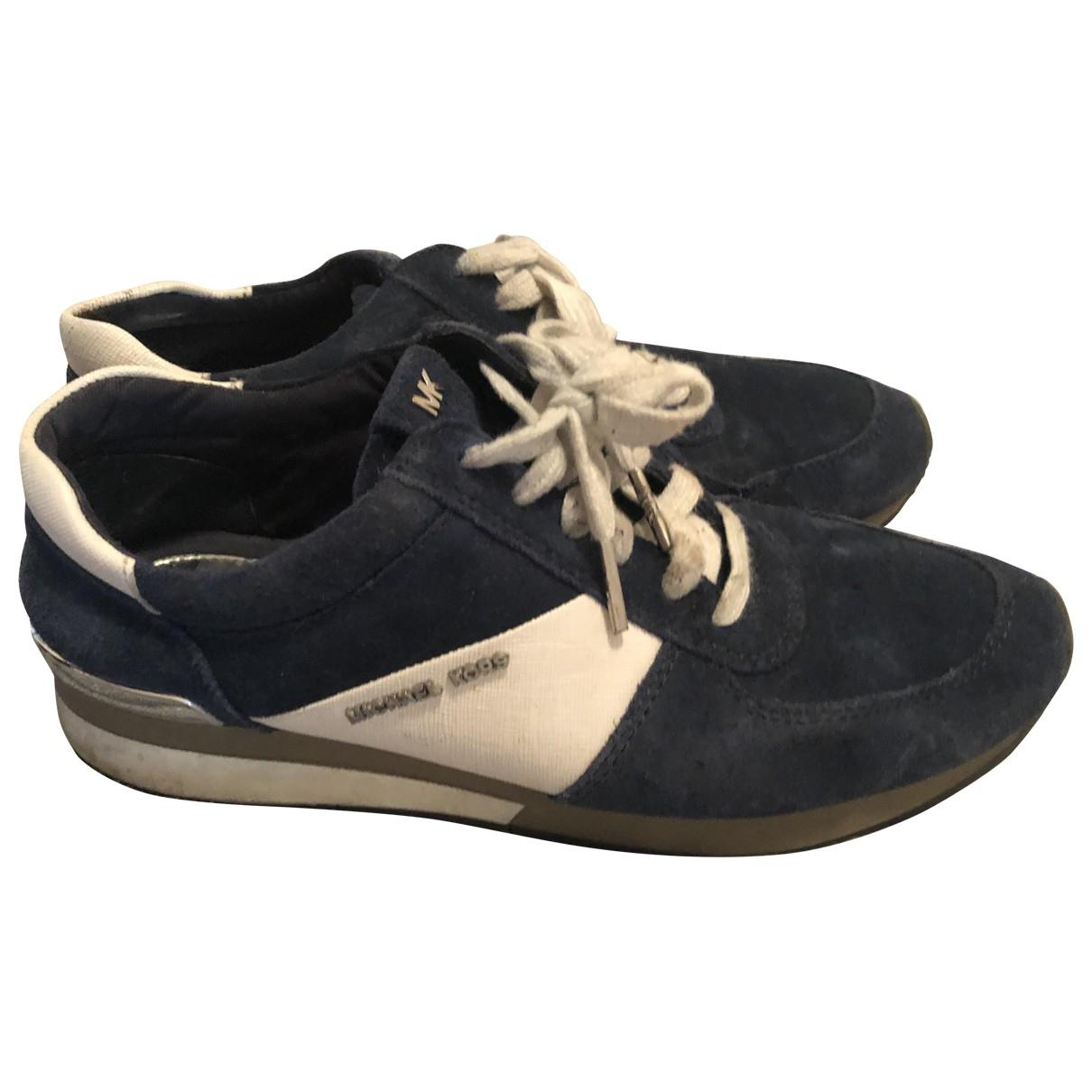 Michael Kors \N Sneakers in  Blau Veloursleder