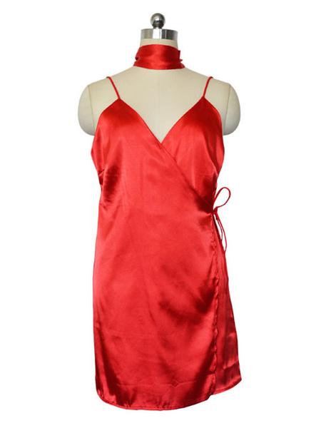 Milanoo Mini vestido 2020 sin mangas del vestido del verano del vestido del abrigo sin mangas del verano del vestido azul de las mujeres