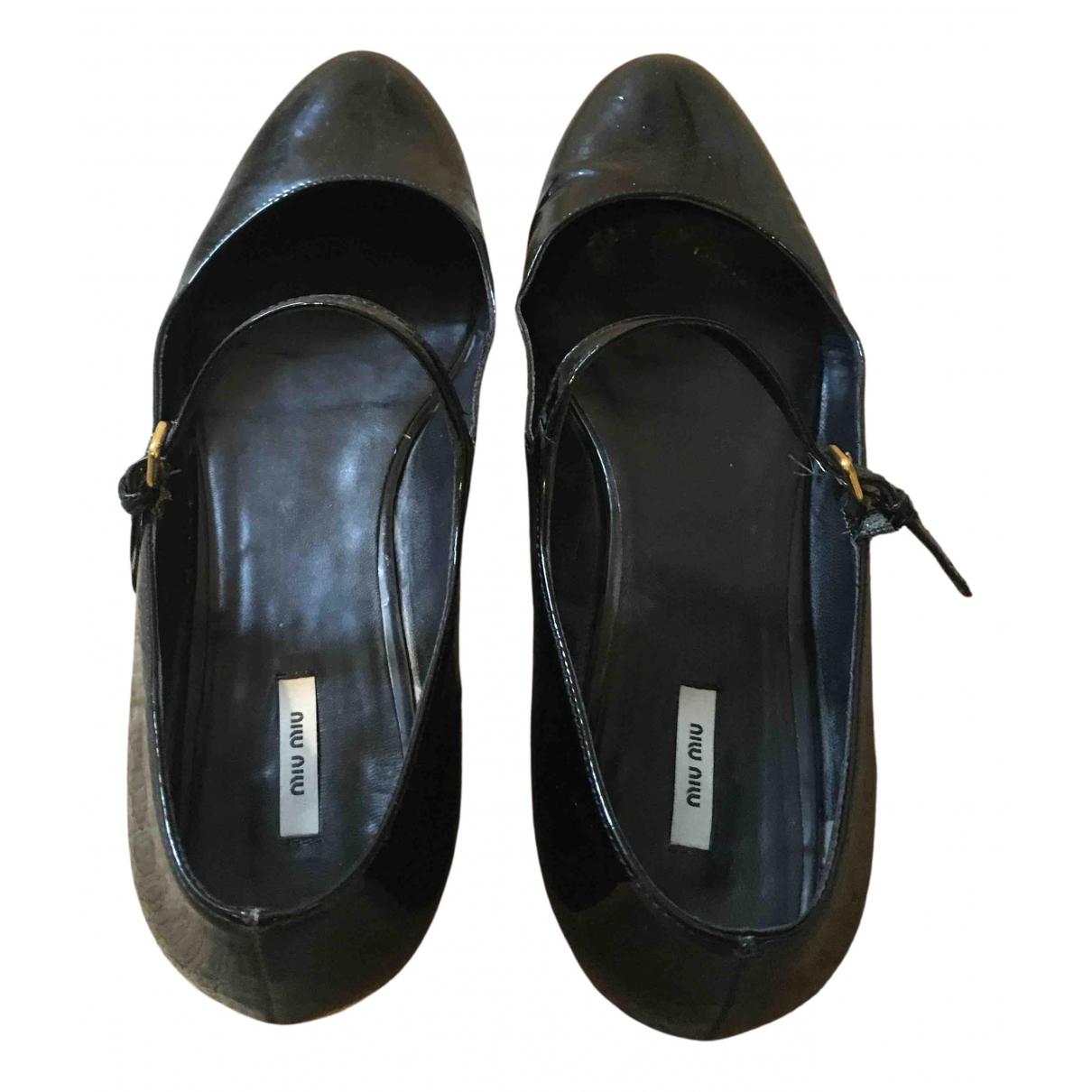 Miu Miu N Black Patent leather Ballet flats for Women 38 EU