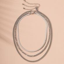 3 Stuecke Halskette mit Kette