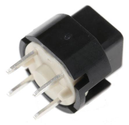 C & K SPST-NO Black Momentary Action Switch, 100 mA@ 32 V, -20 → +85°C