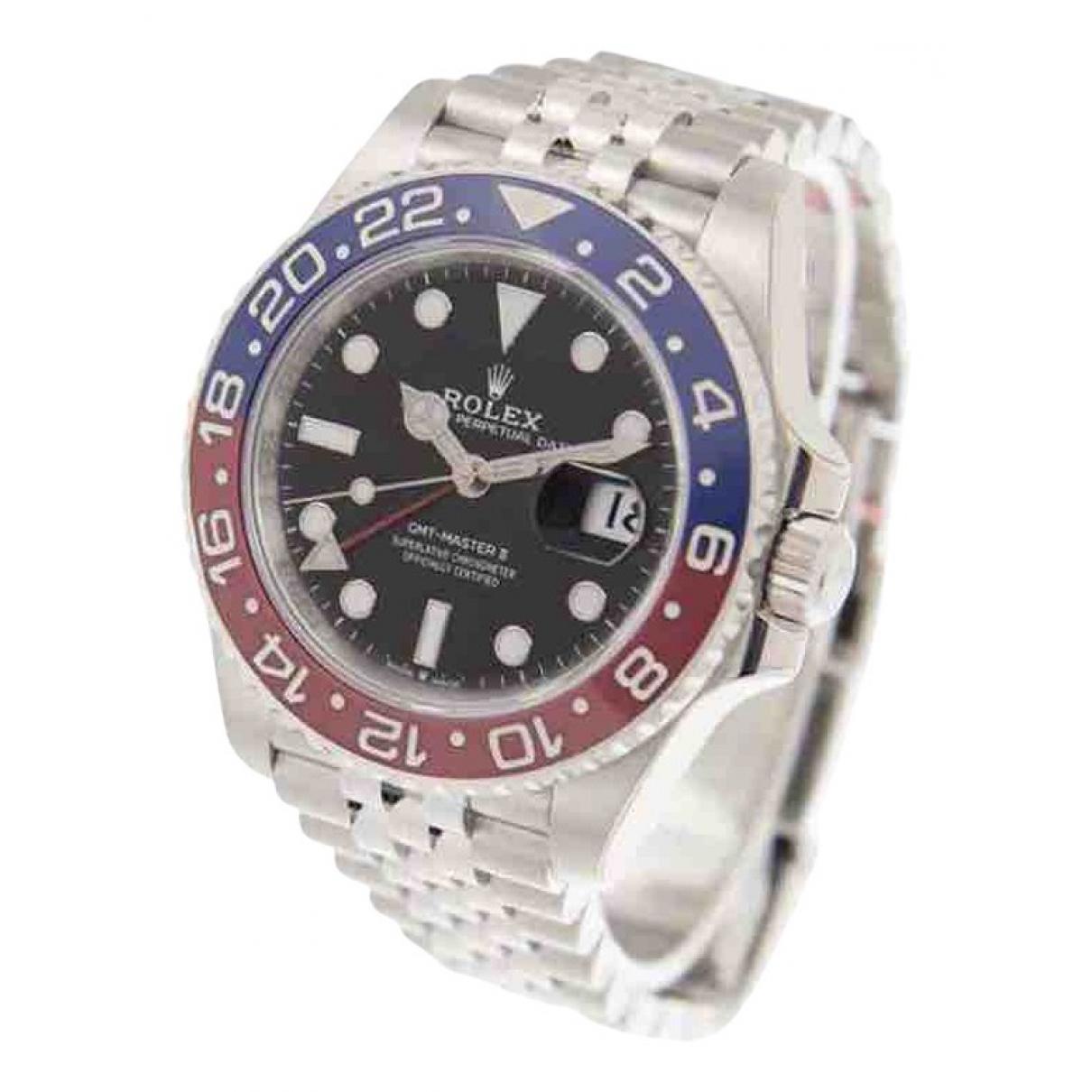 Rolex GMT-Master II Silver Steel watch for Men \N