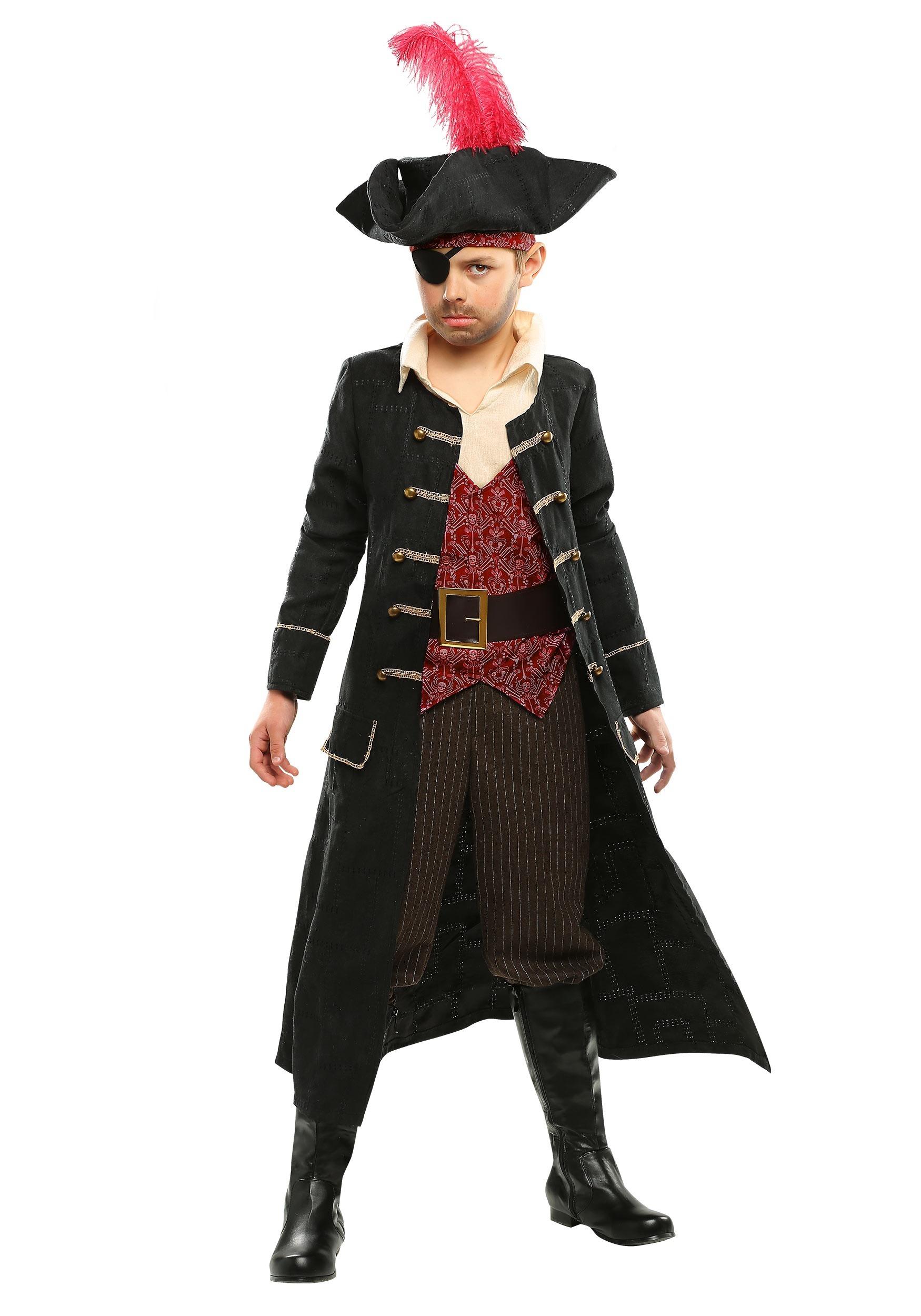 Ship Captain Costume for Boys