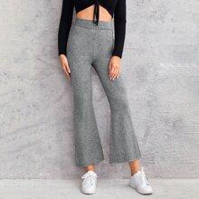Pullover Hose mit elastischer Taille und ausgestelltem Beinschnitt