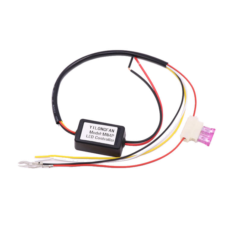 ON/OFF Dimming Automatic Dimmer LED Daytime Running Light Relay Harness DRL Controller Module