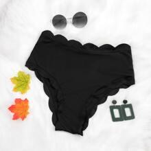 Rib Scallop Trim Bikini Panty