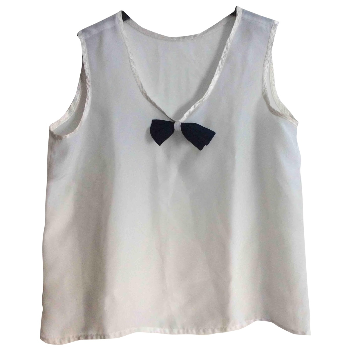 Non Signé / Unsigned \N White  top for Women 38 FR