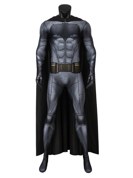 Milanoo Batman DC Comics Costume Cosplay Suit Bruce Wayne Justice League Catsuit
