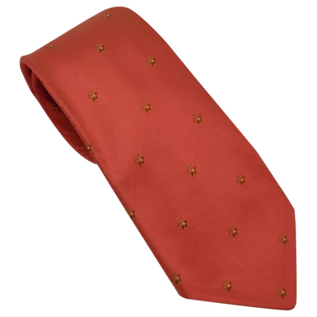 Kiton \N Krawatten in  Orange Seide